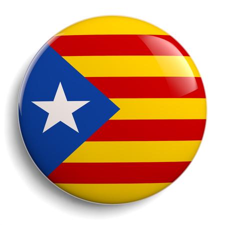 Insignia de la bandera de Cataluña icono aislado en blanco.