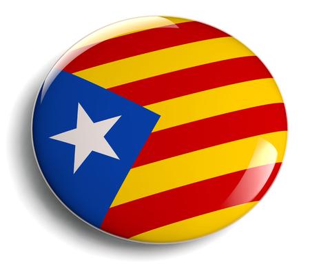 Icono aislado de la bandera de Cataluña.