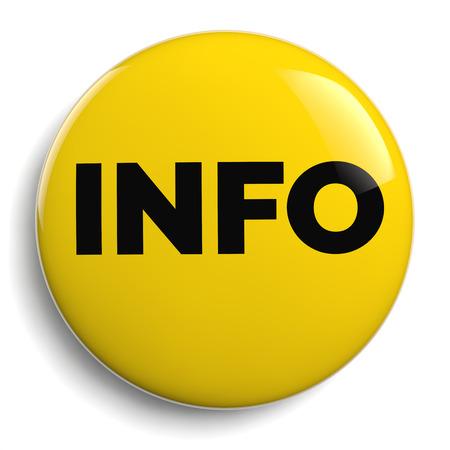 Info - Information Yellow Round Icon Isolated on White Stock Photo