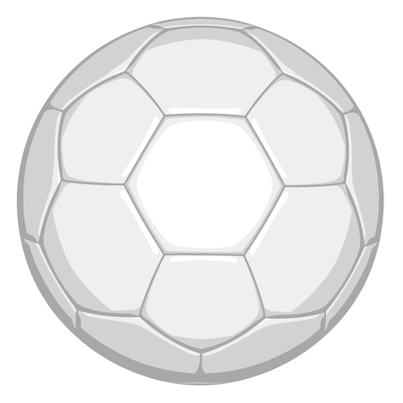 Football White Soccer Ball in Vector Format. Isolated on White Background.