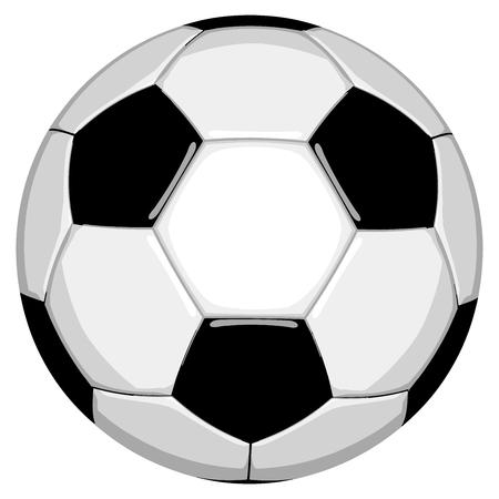 Football Classic Soccer Ball in Vector Format illustration. 向量圖像