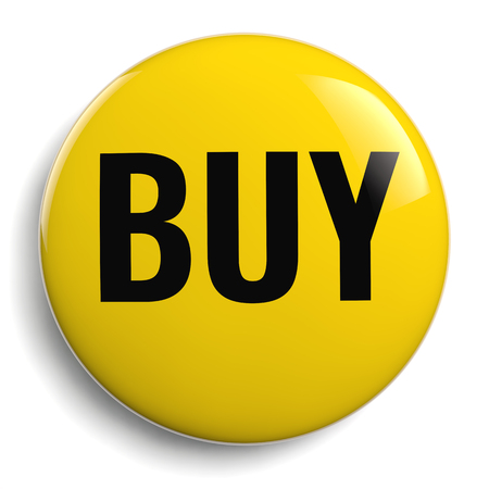 Buy Yellow Shopping Button Icon Isolated Stock Photo