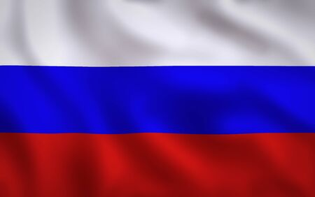 Russia Flag Waving Background Texture
