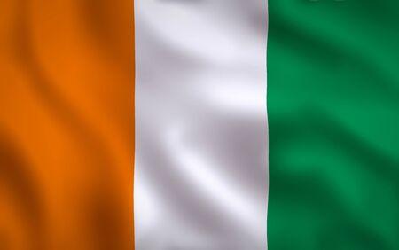 Irish Flag Waving Background Texture