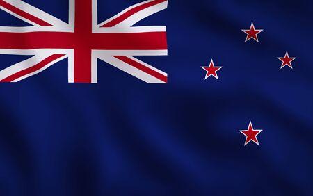 New Zealand Flag Waving Background Texture 版權商用圖片