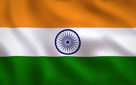 India Flag Waving Background Texture