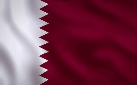 Qatar Flag Waving Background Texture 版權商用圖片