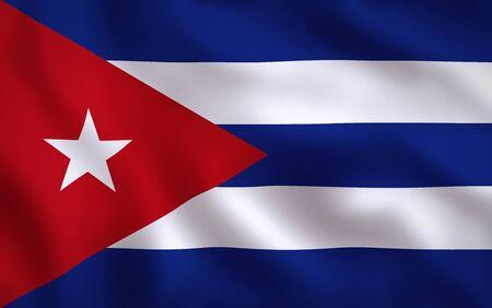 Cuban Flag Waving Background Texture 版權商用圖片
