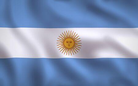 Argentina Flag Waving Background Texture 版權商用圖片