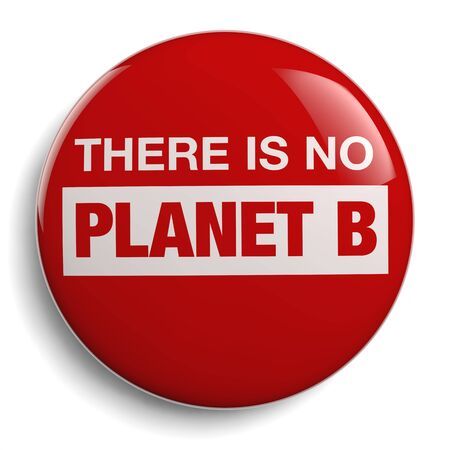 There is No Planet B - Environmental Campaign Slogan Button.