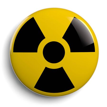Nuclear Radioactive Contamination Symbol. 3D Illustration.