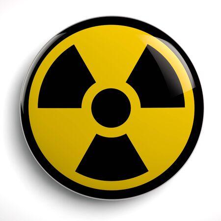 Nuclear Radioactive Contamination Symbol. 3D Illustration.