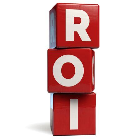 ROI Return on Investment Business Abbreviation Stock Photo