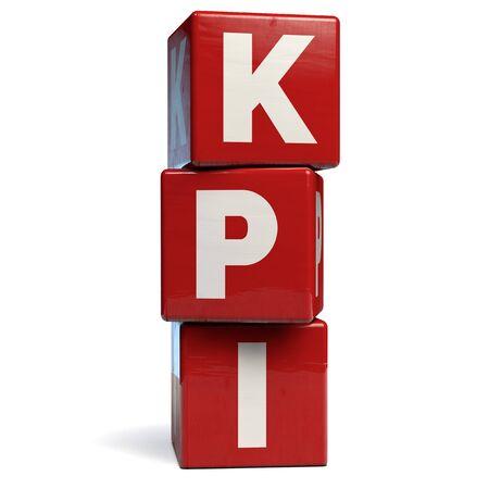 KPI Key Performance Indicators Business Acronym. 3D Illustration. 版權商用圖片