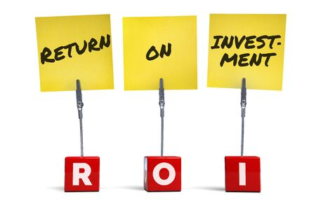 ROI Return on Investment Acronym Business Term.