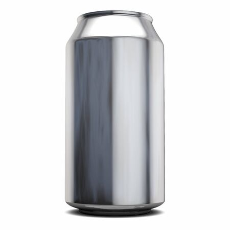 Cola Can. Blank Aluminum Package. Isolated on White. 3D Illustration. 版權商用圖片