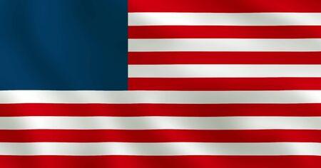 American Flag Without Stars - USA Banner Image 版權商用圖片