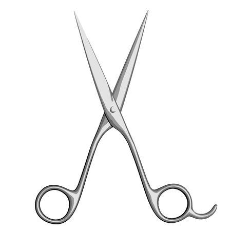 Metal Scissors Isolated on White