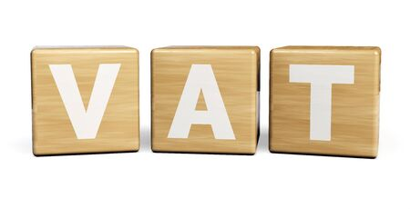 VAT Tax. Value Added Tax. 3D Illustration.