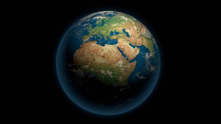 Global earth on the black 版權商用圖片