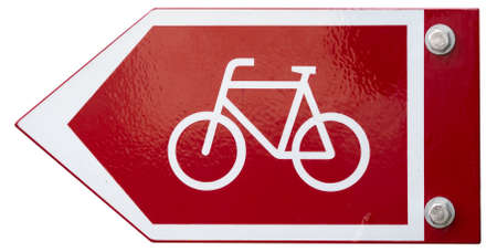 Bicycle Cycling Sign Isolated on White Background