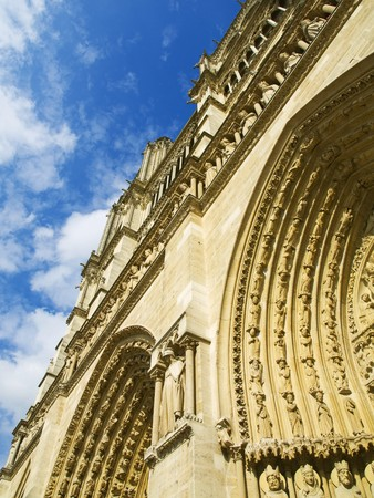 Photo taken from the entrance door of the Notre Dame Cathedral in Paris Stock Photo - 4190903