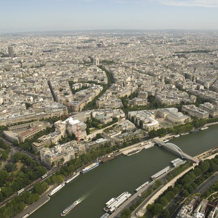Paris from the Eiffel Tower Stock Photo - 4190886