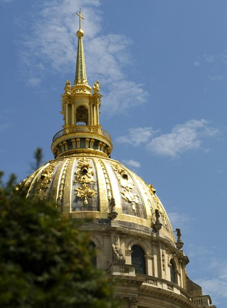 The beautiful dome of Invalides Hotel in Paris photo