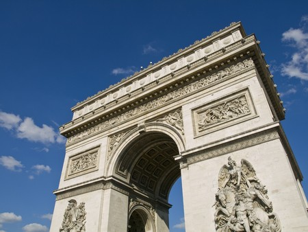 high angle: High angle view of one of the most popular monuments of France Stock Photo