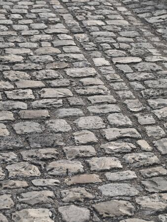 Cobbled Road taken in the Concorde Square of Paris photo