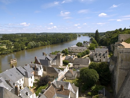 One of the riverside of Loire River, where Amboise is sitted, a really beautiful medieval village. Stock Photo - 4190921