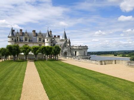 loire: Amboise Castle in Loire Valley Stock Photo
