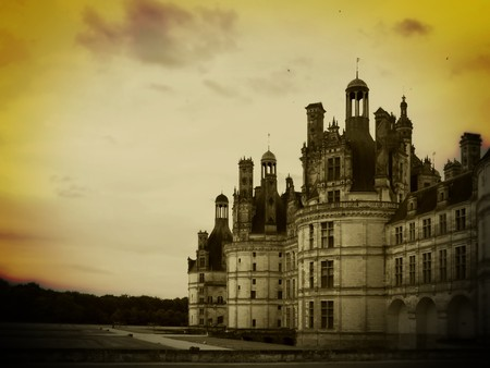 interpretation: My personal interpretation of Chambord, one of the most important Chateaus of Loire Valley.