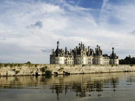 chambord: Chambord Castle from the canal Stock Photo