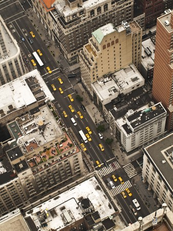 Aerial view of Manhattan Streets photo