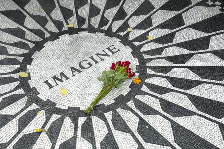 The Central Park Lennon Memorial, New York Editorial