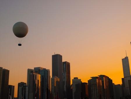 Chicago Skyline at sunset photo