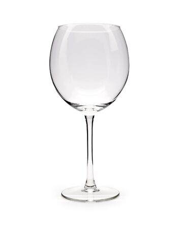 Isolated Empty Wine Glass