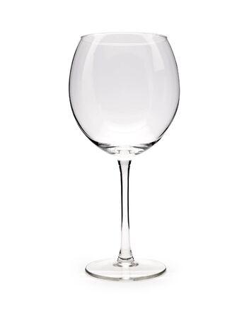 Isolated Empty Wine Glass