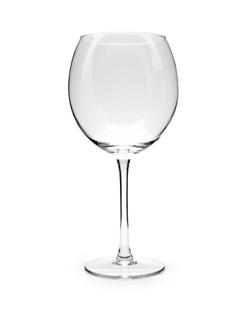 white wine glass: Isolated Empty Wine Glass