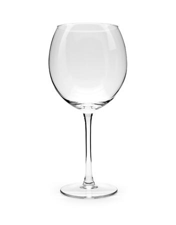 empty glass: Isolated Empty Wine Glass
