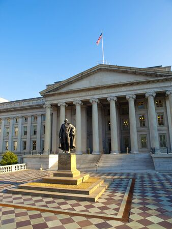 The Treasury Building in Washington, D.C., known also as U.S. Department of the Treasury, is a National Historic Landmark building which is the headquarters of the United States Department of the Treasury. The building suffered a fire in 1922.