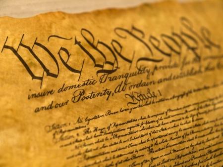constitucion: Pergamino de Constituci�n de Estados Unidos Foto de archivo