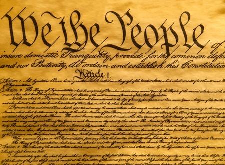 Pergamena di Costituzione USA