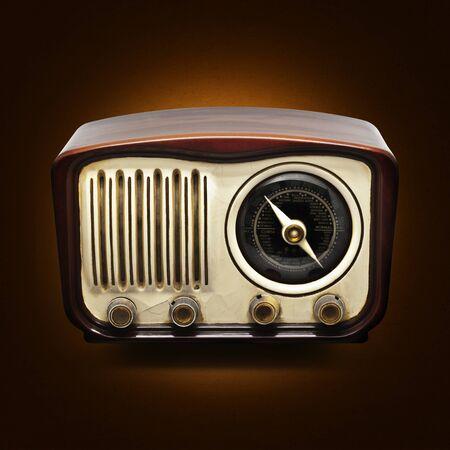 Vintage Radio on a dark background photo
