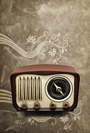 Vintage Radio on a classic background photo