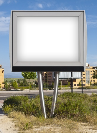 rural town: Billboard in a rural town Stock Photo