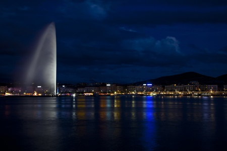 Geneva in a summer night photo
