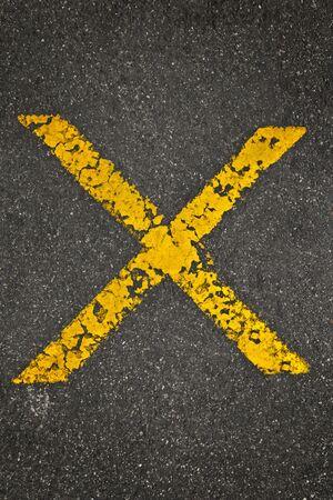no parking: No parking sign in the asphalt