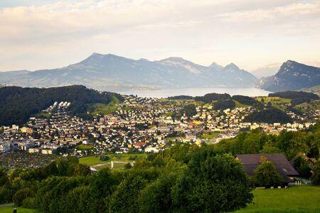 lucerne: Kriens Village in Lucerne, Switzerland